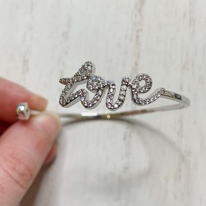 Henri Bendel Love Swarovski Gem Open Cuff Bracelet